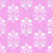 Pink damask pattern — Vector de stock #19789221