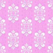 Pink damask pattern — Stock Vector