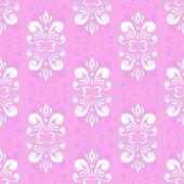 Růžové damaškové vzor — Stock vektor