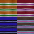 Set of striped knitting patterns — ストックベクタ