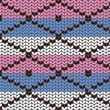 Vector de stock : Knitting pattern with rhombuses