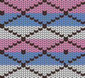 Knitting pattern with rhombuses — Vector de stock