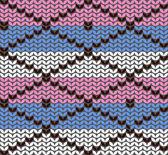 Pletení vzor kosočtverců — Stock vektor