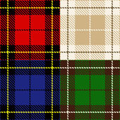 Set of plaid fabric — Stock Vector