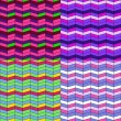Set of zigzag patterns — Vector de stock