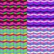 conjunto de patrones en zig-zag — Vector de stock