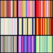 Set of vertical striped patterns — Imagens vectoriais em stock