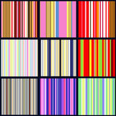 Set of vertical striped patterns — Stock Vector