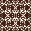 Vector de stock : Brown damask pattern