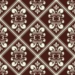 ブラウン ・ ダマスク織柄 — ストックベクタ