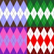 Set of patterns wiyh rhombuses — Vector de stock #19987241