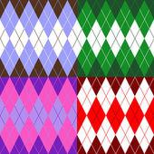 Set of patterns wiyh rhombuses — Stock Vector