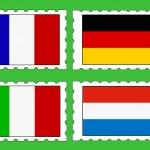 znaczki pocztowe z flagi — Wektor stockowy