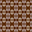 Stock Vector: Brown damask pattern