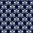 Stock Vector: Dark blue damask pattern