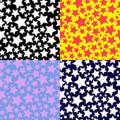 Set of patterns with stars — Stock Vector