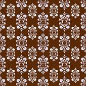 Brown damask pattern — Stock Vector