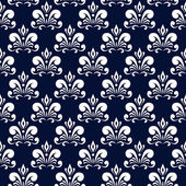 Dark blue damask pattern — Stok Vektör