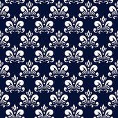 Patrón damasco azul oscuro — Vector de stock