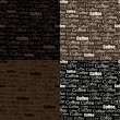 Set-of-coffe-seamless-pattern — Stockvectorbeeld