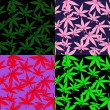 Set-of-marijuana-patterns — Stock Vector