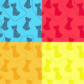 Set of cat patterns — Stock Vector