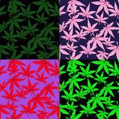 Sada marihuany vzory — Stock vektor