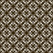 Brown pattern with decorative elements — Vector de stock