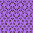 Lilac pattern with decorative element — Vector de stock