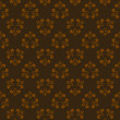 Brown seamless abstract pattern — Stockvektor