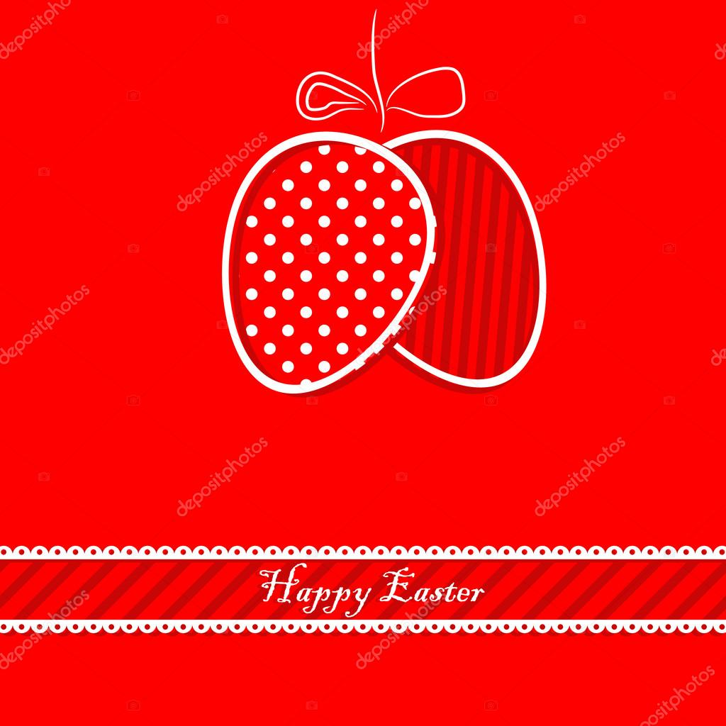 Vector happy easetr card — Stock Vector #20176183