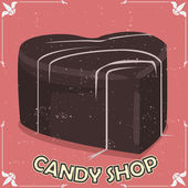 Candy shop signboard — Stock Vector