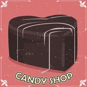 Candy shop signboard — Stock Vector
