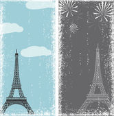 Grunge banners with eiffel tower — Stock Vector
