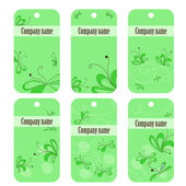 Green floral banners — Stock Vector