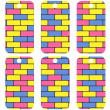 Tags with colorful bricks — Stock vektor