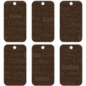 Brown tags with coffee — Stock Vector