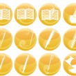 Writing and painting icons — Stock Vector