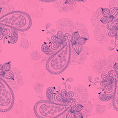 Pink floral pattern — Vector de stock