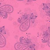 Pembe çiçek desenli — Stok Vektör