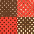 Set of polka dot patterns — Vector de stock