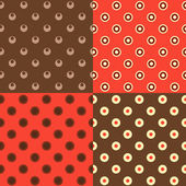 Set of polka dot patterns — Stock Vector