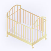 Crib illustration — Vector de stock