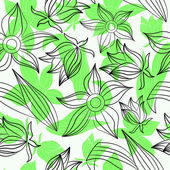 Green flowers — Vector de stock