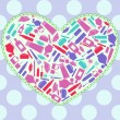 Heart with makeup attributes — 图库矢量图片 #21133795