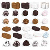 Set of candies — Stock Vector