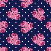 Seamless pattern with roses — Vector de stock