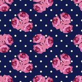 Wzór z różami — Wektor stockowy