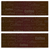Banners with coffee — Stock Vector