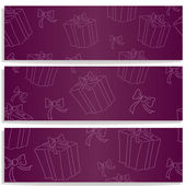 Banner with gifts — Stock Vector